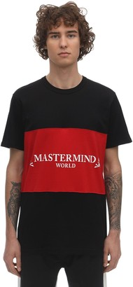 Mastermind World Two Tone Printed Cotton Jersey T-Shirt