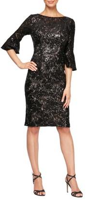 Alex Evenings Embellished Lace Shift Dress