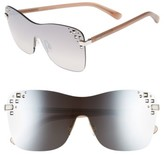 Jimmy Choo Women's Masks 63Mm Rimless Shield Sunglasses - Gold/ Black