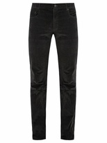 Prada Slim-leg cotton-velvet trousers