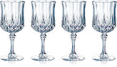 Longchamp Cristal D'Arques Set of 4 Cordial Glasses