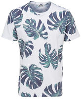 Only And Sons Leaf Print T-Shirt