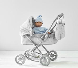 Pottery Barn Kids Gray Stars Mini Pram Doll Stroller