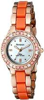 Swarovski Armitron Women's 75/3689MPRGCO Peach Crystal Accented Rose Gold-Tone and Coral Bracelet Watch