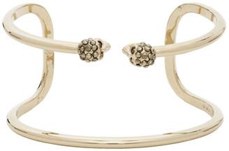 Alexander McQueen Gold Thin Double Skull Bracelet