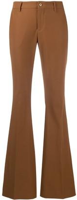 Pt01 High-Waist Flared Trousers