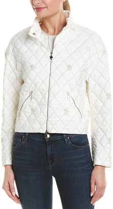Moncler Quilted Silk-Lined Jacket