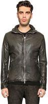Giorgio Brato Washed Leather Bomber Jacket