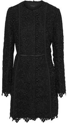 Giambattista Valli Satin-trimmed Cotton-blend Guipure Lace Jacket