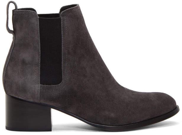 Rag & Bone Grey Suede Walker Boots