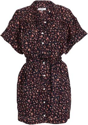 Frame Floral Button-Down Mini Dress