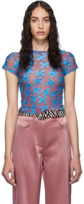 Eckhaus Latta Purple and Blue Shrunk T-Shirt
