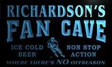 AdvPro Name tg1063-b Richardson's Hockey Fan Cave Man Room Bar Beer Neon Light Sign
