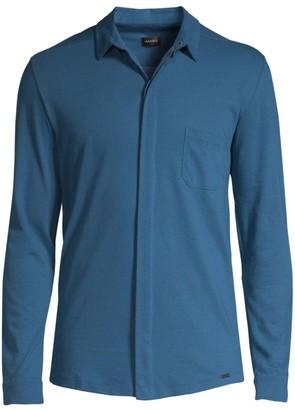 Hanro Luca Long-Sleeve Button-Down Shirt