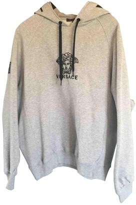 Versace Grey Cotton Knitwear for Women