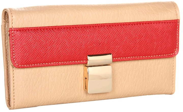 Ivanka Trump Colorblock Ashleigh Wallet (Red) - Bags and Luggage