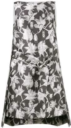 Osman metallic brocade shift dress