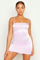 boohoo Strappy Square Neck Bodycon Mini Dress