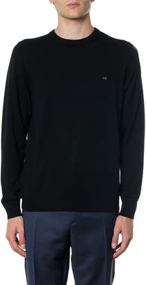 Calvin Klein Black Wool Sweater With Logo