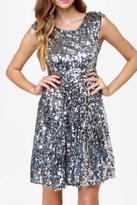Black Silver News-Flash Dress