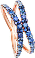 Astley Clarke Interstellar 14ct rose-gold sapphire fusion ring