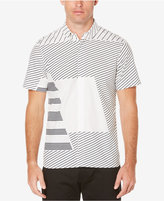 Perry Ellis Men's Slim-Fit Staggered-Stripe Shirt