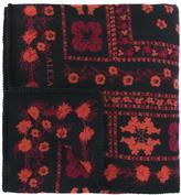Alexander McQueen Wool-Silk Blend Floral Jacquard Scarf