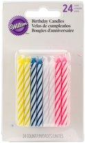 """Wilton Birthday Candles 2.5"""" 24/Pkg-Assorted Striped Spirals"""