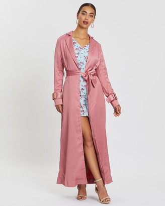 Loreta Satin Duster Coat