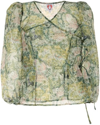 Shrimps All-Over Print Blouse