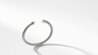 David Yurman Cable Kids Birthstone Bracelet With Cultured Freshwater