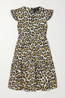 Marc Jacobs The Tent Lace-trimmed Leopard-print Cotton-poplin Mini Dress - Leopard print