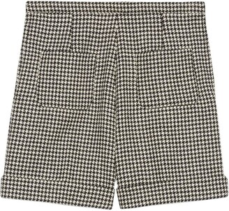 Gucci Houndstooth Wool Shorts