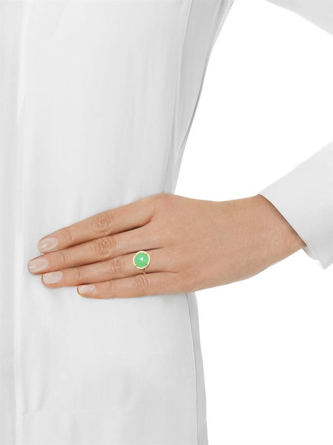 Irene Neuwirth Diamond, chrysoprase & gold ring