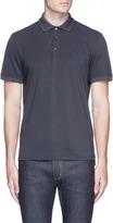 Isaia Coral logo embroidered polo shirt