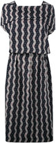 Loewe wavy print midi dress - women - Cotton/Polyester - 38