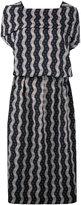Loewe wavy print midi dress - women - Cotton/Polyester - 38