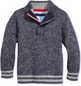 Tommy Hilfiger Baby Boys' Quarter-Zip Sweater