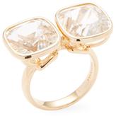 Gossip Rock Crystal Twin Ring
