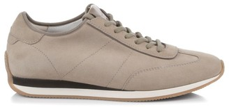 Santoni Stretch Suede Low-Top Sneakers