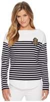 Lauren Ralph Lauren Striped Layered Cotton Sweater Women's Sweater