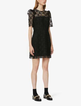 Sandro Sarya ruffle-trimmed lace dress