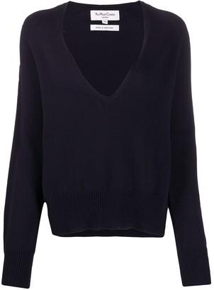 YMC V-neck cotton jumper