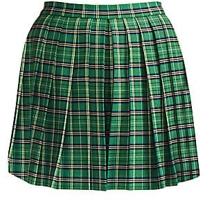 Maje Women's Iverts Pleated Plaid Skort