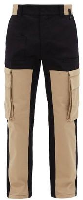 Fendi Patchwork Cotton-blend Canvas Cargo Trousers - Black Cream