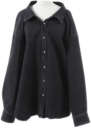 Balenciaga \N Black Denim - Jeans Jackets