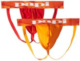 Papi Men's 2-Pack Microfusion Performance Jock Strap