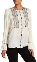 Plenty by Tracy Reese Embroidered Bodice Blouse