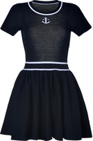 RED Valentino Valentino R.E.D. Navy Virgin Wool Maritime-Style Dress