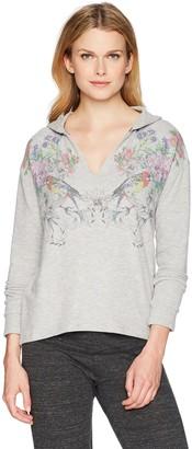 PJ Salvage Women's Floral Bird Pullover Hoodie